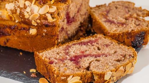 Gâteau du matin châtaignes framboises amandes