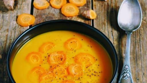 Ma soupe de carotte au curcuma et à la butternut
