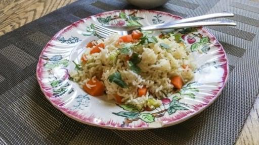 Pulao de carotte et son raïta