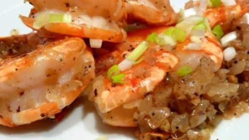 Crevettes Sautées Au Sel Poivre Recette Par Le Yin