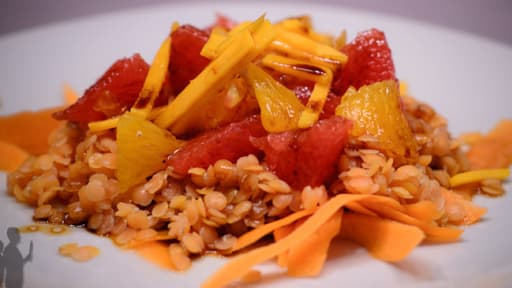 Salade toute orange