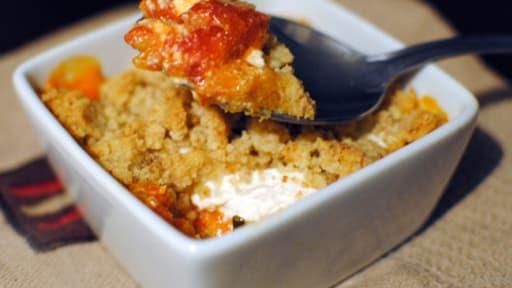 Crumble salé tomates et fromage de chèvre
