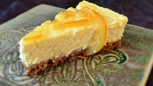 Cheesecake bergamote et amaretti