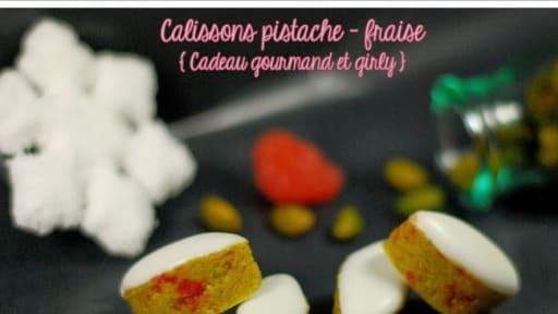 Calissons pistache et fraise