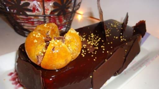 Bavarois à la clémentine sur Parfait au chocolat