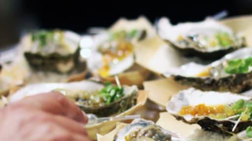 Huîtres au confit d'agrumes et Glen Moray