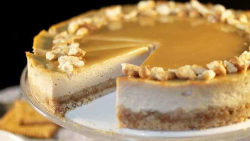 Cheesecake aux petits-beurre et caramel beurre salé