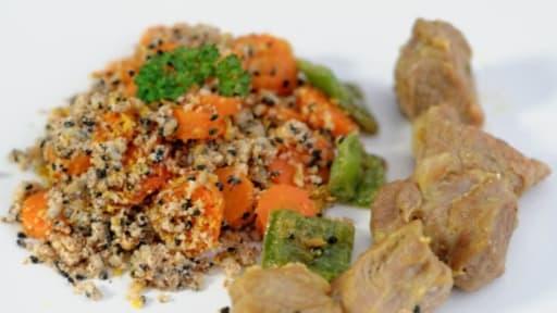 Crumble de carottes aux épices
