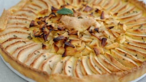 Tarte Aux Pommes Fleur D Oranger Et Romarin Recette Par Ma