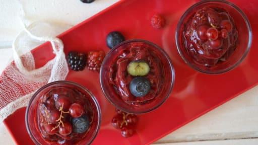 Sorbet express aux fruits rouges