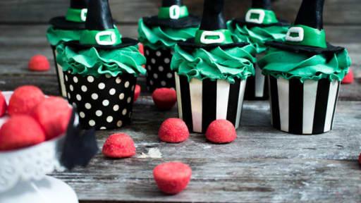 Cupcakes des sorcières d'Halloween