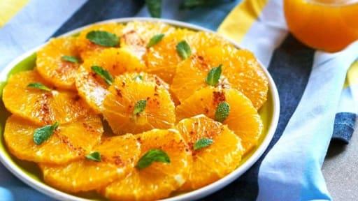 Salade d'oranges à l'orientale