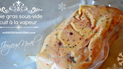 Foie gras de Noël sous vide à la vapeur