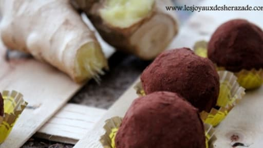 Truffes chocolat gingembre