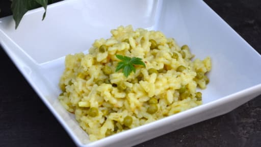 Risotto petits pois curry