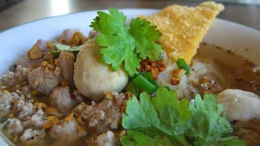 Boulettes de riz gluant farcies au porc