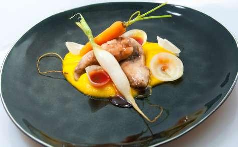 Filet de Perdreau et groseille, courge sichuanée