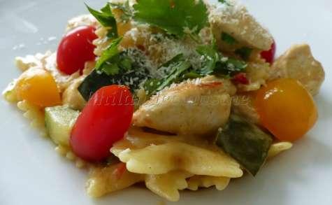 """""""One pot pasta"""" de poulet au curry et à la noix de coco"""