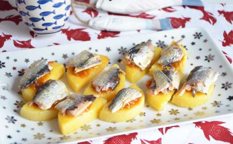 Palets de polenta et sardines de garde