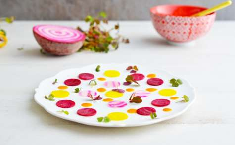 Carpaccio de betteraves crues