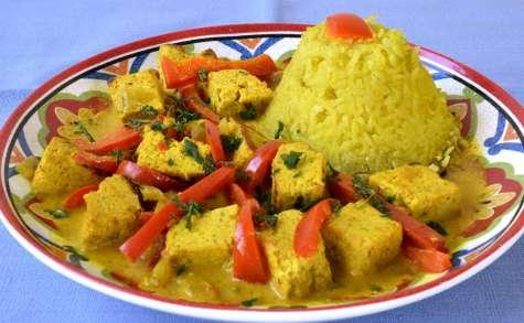 Curry de tofu aux poivrons - Ma Cuisine Santé