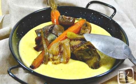 Recette polenta crémeuse aux légumes