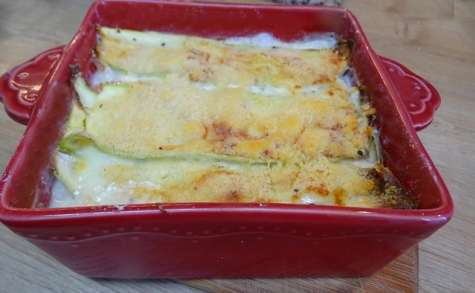 Gratin de courgettes, prosciutto cotto, mozzarella et parmigiano