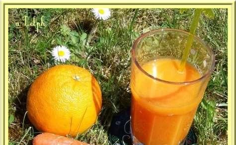 Jus d'orange, carottes et gingembre