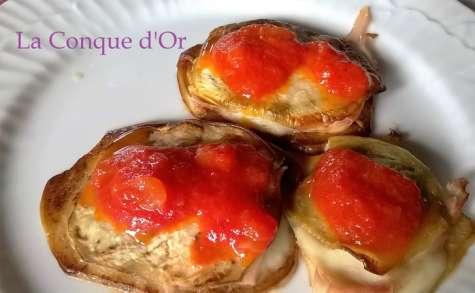 Petits sandwichs d'aubergines