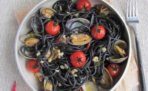 Spaghettis noir à la vongole