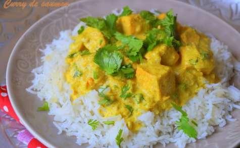 Saumon au lait de coco et au curry