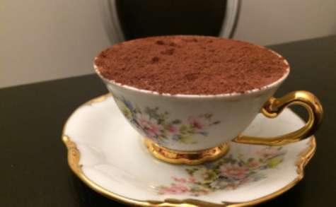 Mousse au chocolat, sirop d'érable et spéculos