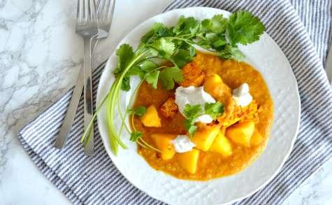 Curry de mangue et tofu