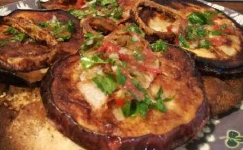 Tarte fine aux aubergines grillées