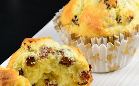 Muffins au citron et raisins