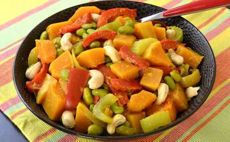 Curry de courge butternut et autres légumes