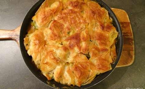 Pie croustillant de légumes au curry et à la pâte filo