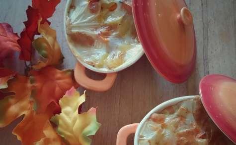 Gratin de pomme de terre et butternut à la cancoillotte