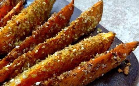 Wedges de patates douces aux graines