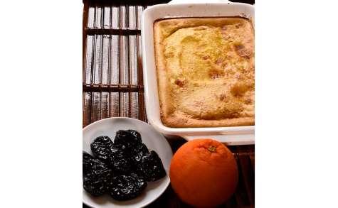 Flan aux pruneaux et à l'orange