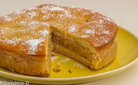 Gâteau à la compote pomme cannelle