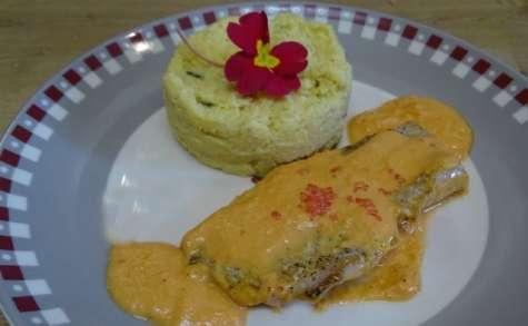 Filets de d'Eglefin au safran et polenta crémeuse