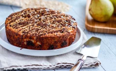 Gâteau pomme et poire au chocolat