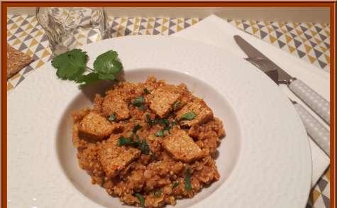 Lentilles corail et quinoa au curry