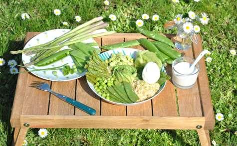 Buddha bowl de quinoa vert