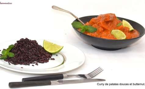 Curry de butternut et de patates douces.