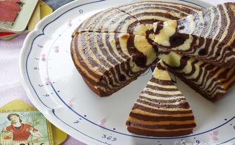 Zébra cake, cake zébré gâteau marbré