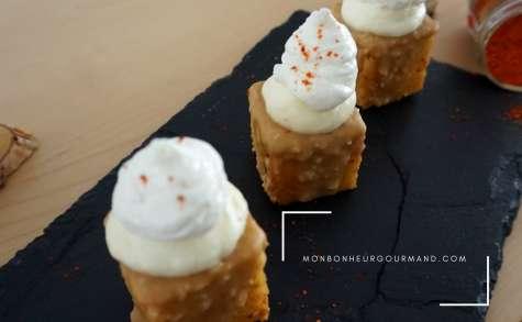 Cubes- cakes coco-piment d'Espelette