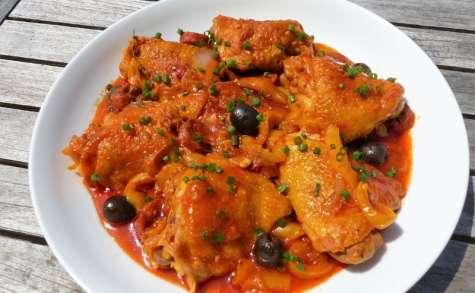 Hauts de cuisse de poulet au chorizo