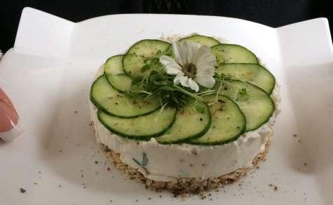 Cheesecake au concombre et au chèvre frais